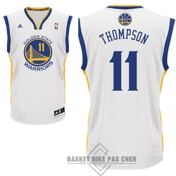Maillot NBA Pas Cher - Maillot NBA Golden State Warriors NO.11 Klay Thompson Blanc