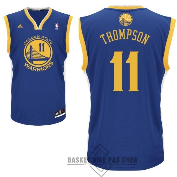 Maillot NBA Pas Cher - Maillot NBA Golden State Warriors NO.11 Klay Thompson Bleu