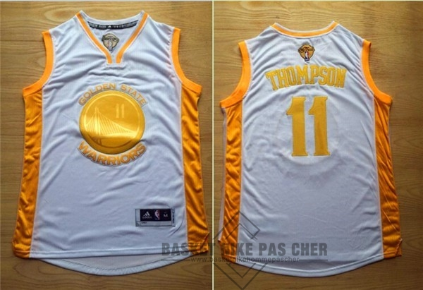 Maillot NBA Pas Cher - Maillot NBA Golden State Warriors NO.11 Klay Thompson Or