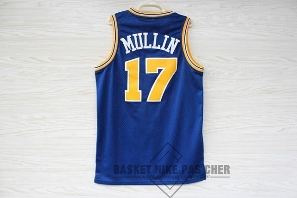 Maillot NBA Pas Cher - Maillot NBA Golden State Warriors NO.17 Chris Mullin Bleu