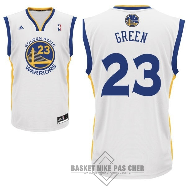 Maillot NBA Pas Cher - Maillot NBA Golden State Warriors NO.23 Draymond Green Blanc
