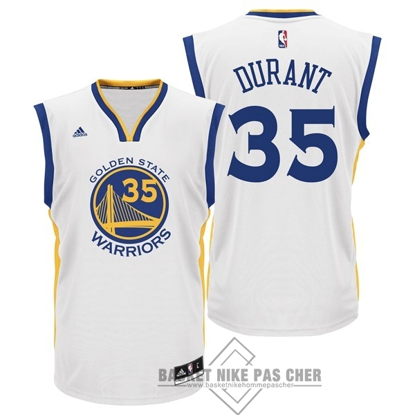 Maillot NBA Pas Cher - Maillot NBA Golden State Warriors NO.35 Kevin Durant Blanc