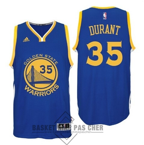 Maillot NBA Pas Cher - Maillot NBA Golden State Warriors NO.35 Kevin Durant Bleu