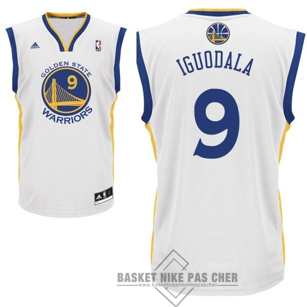 Maillot NBA Pas Cher - Maillot NBA Golden State Warriors NO.9 Andre Iguodala Blanc