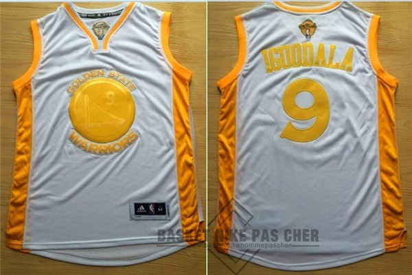 Maillot NBA Pas Cher - Maillot NBA Golden State Warriors NO.9 Andre Iguodala Or