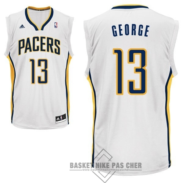 Maillot NBA Pas Cher - Maillot NBA Indiana Pacers NO.13 Paul George Blanc