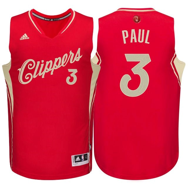 Maillot NBA Pas Cher - Maillot NBA Los Angeles Clippers 2015 Noël NO.3 Paul Rouge