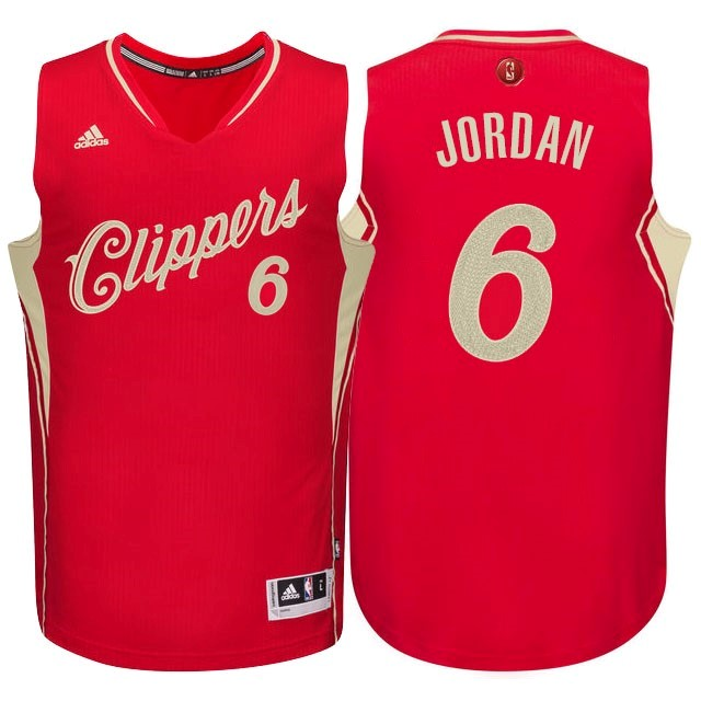 Maillot NBA Pas Cher - Maillot NBA Los Angeles Clippers 2015 Noël NO.6 Jordan Rouge