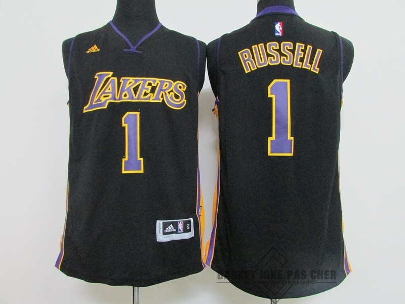 Maillot NBA Pas Cher - Maillot NBA Los Angeles Lakers NO.1 D'Angelo Russell Noir