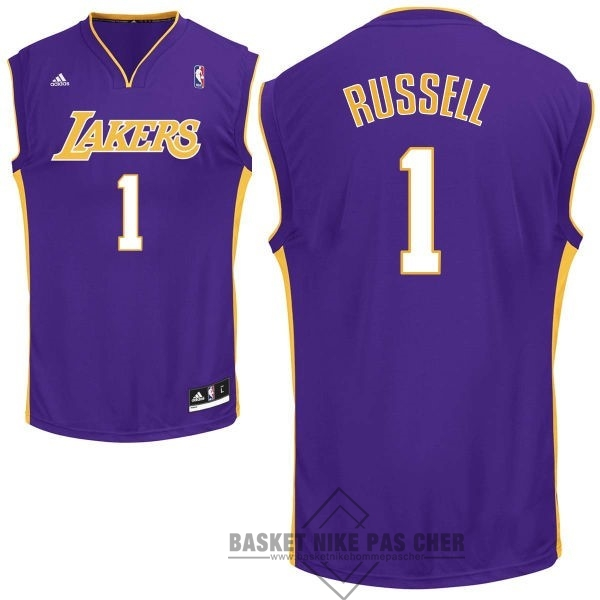 Maillot NBA Pas Cher - Maillot NBA Los Angeles Lakers NO.1 D'Angelo Russell Pourpre