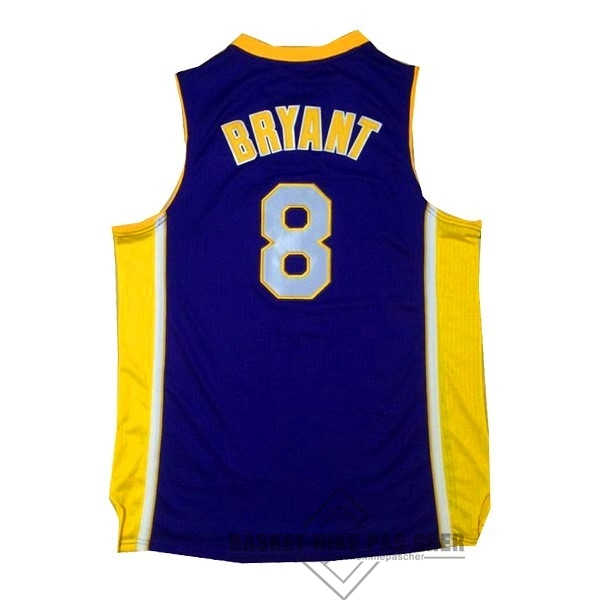 Maillot NBA Pas Cher - Maillot NBA Los Angeles Lakers NO.8 Kobe Bryant Pourpre Jaune