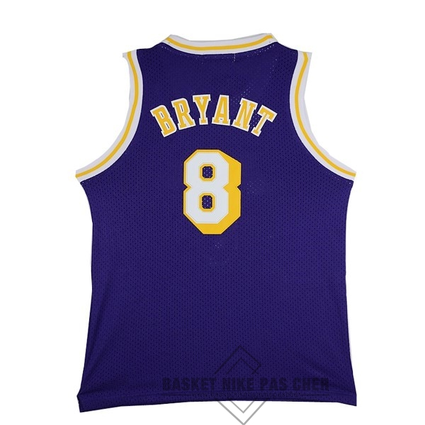 Maillot NBA Pas Cher - Maillot NBA Los Angeles Lakers NO.8 Kobe Bryant Pourpre