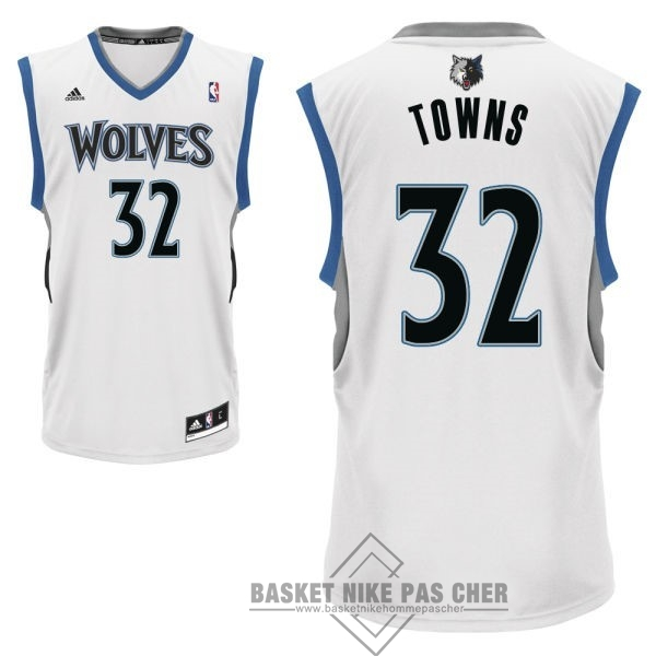Maillot NBA Pas Cher - Maillot NBA Minnesota Timberwolves NO.32 Karl Anthony Towns Blanc