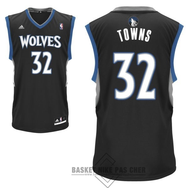 Maillot NBA Pas Cher - Maillot NBA Minnesota Timberwolves NO.32 Karl Anthony Towns Noir