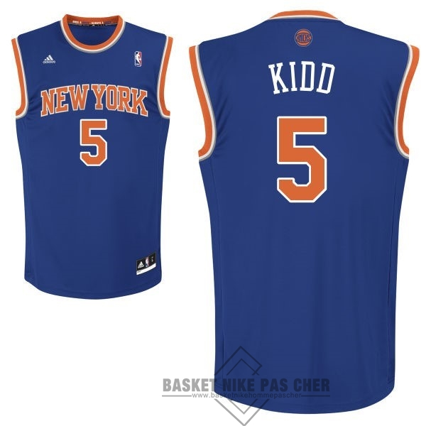 Maillot NBA Pas Cher - Maillot NBA New York Knicks NO.5 Jason Kidd Bleu