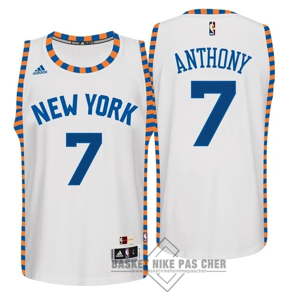 Maillot NBA Pas Cher - Maillot NBA New York Knicks NO.7 Carmelo Anthony Blanc Encaje