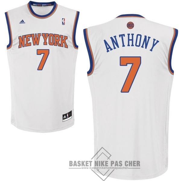 Maillot NBA Pas Cher - Maillot NBA New York Knicks NO.7 Carmelo Anthony Blanc