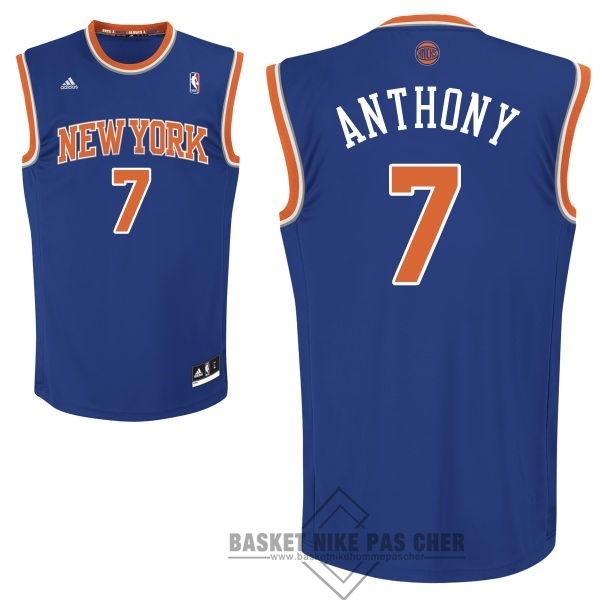 Maillot NBA Pas Cher - Maillot NBA New York Knicks NO.7 Carmelo Anthony Bleu