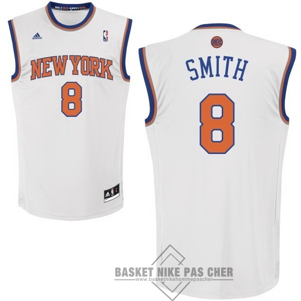 Maillot NBA Pas Cher - Maillot NBA New York Knicks NO.8 JR.Smith Blanc