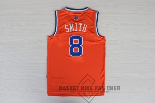 Maillot NBA Pas Cher - Maillot NBA New York Knicks NO.8 JR.Smith Orange Bleu