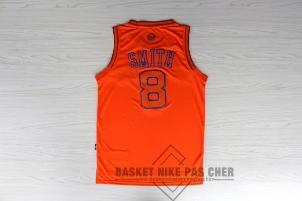 Maillot NBA Pas Cher - Maillot NBA New York Knicks NO.8 JR.Smith Orange