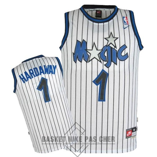 Maillot NBA Pas Cher - Maillot NBA Orlando Magic NO.1 Anfernee Hardaway Blanc