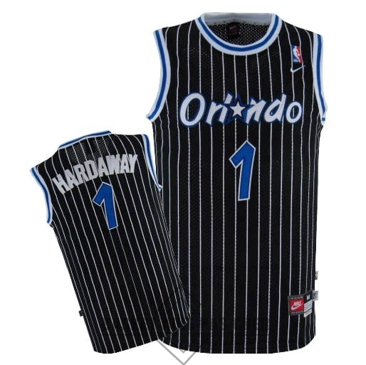 Maillot NBA Pas Cher - Maillot NBA Orlando Magic NO.1 Anfernee Hardaway Noir