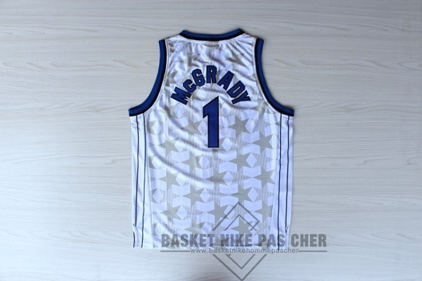 Maillot NBA Pas Cher - Maillot NBA Orlando Magic NO.1 Tracy McGrady Blanc Sombre