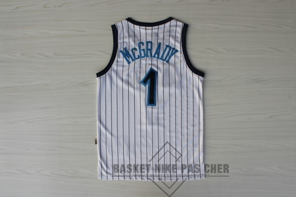 Maillot NBA Pas Cher - Maillot NBA Orlando Magic NO.1 Tracy McGrady Blanc