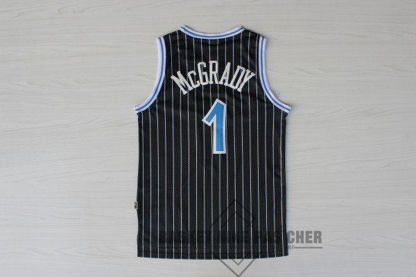 Maillot NBA Pas Cher - Maillot NBA Orlando Magic NO.1 Tracy McGrady Noir