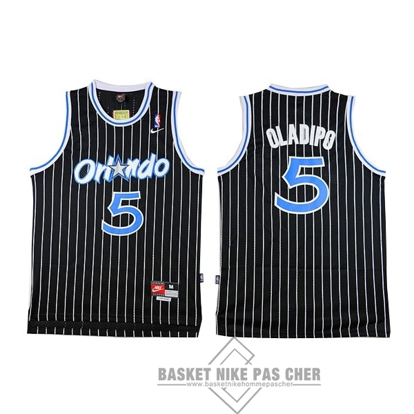 Maillot NBA Pas Cher - Maillot NBA Orlando Magic NO.5 Victor Oladipo Noir