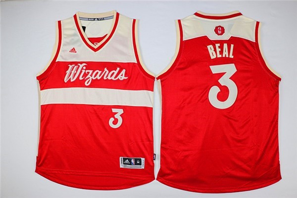 Maillot NBA Pas Cher - Maillot NBA Washington Wizards 2015 Noël NO.3 Beal Rouge