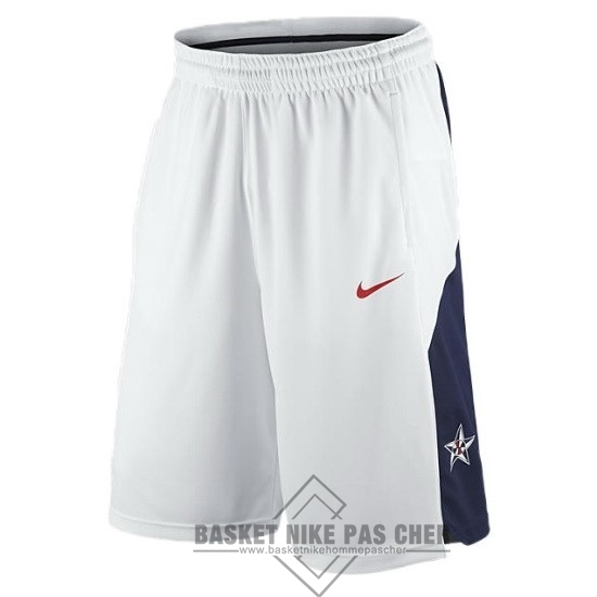 Maillot NBA Pas Cher - Short Basket 2012 USA Blanc