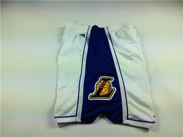 Maillot NBA Pas Cher - Short Basket 2015 Noël Los Angeles Lakers Blanc