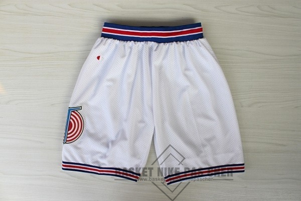 Maillot NBA Pas Cher - Short Basket Film Basket-Ball Tune Squad Blanc