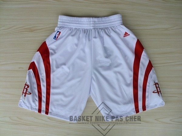 Maillot NBA Pas Cher - Short Basket Houston Rockets Blanc