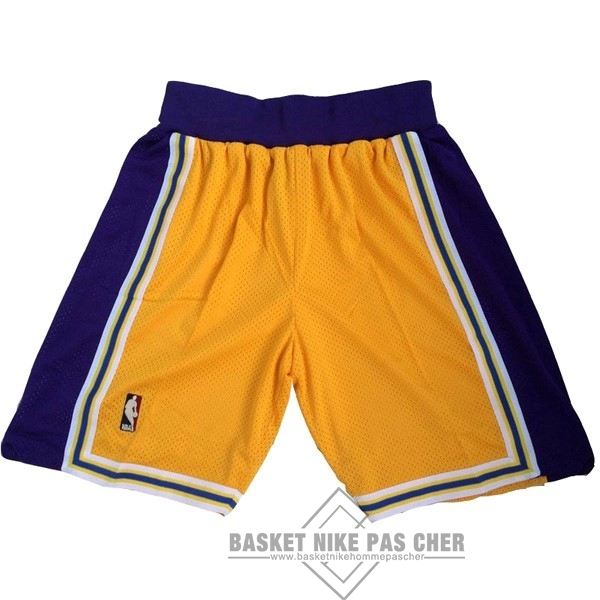 Maillot NBA Pas Cher - Short Basket Los Angeles Lakers Jaune