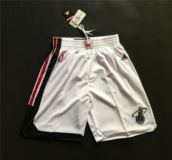 Maillot NBA Pas Cher - Short Basket Miami Heat Retro Blanc