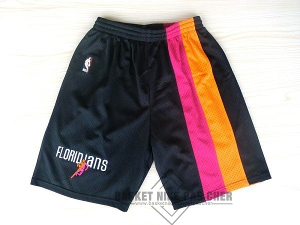 Maillot NBA Pas Cher - Short Basket Miami Heat Retro Floridians Noir