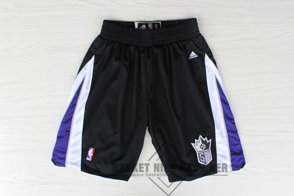 Maillot NBA Pas Cher - Short Basket Sacramento Kings Noir